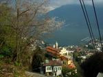 View form cable car to Cardada: Lago Maggiore and Madonna del Sasso
