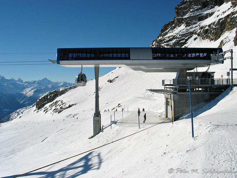 Die neue Gletscherbahn zum Hockenhorn...