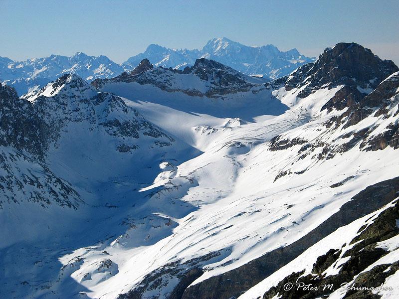Mt. Blanc in der Ferne