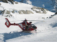 Air Zermatt im Einsatz (Volker musste nicht intubieren)