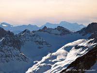 Mt. Blanc in der Ferne, Nachmittagssonne