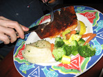 eating out: the small version of the 10 oz. salmon