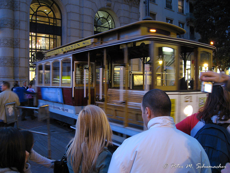 Cable Car at Market Street and Powell
