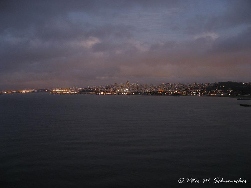 Bay Bridge and San Francisco by Night