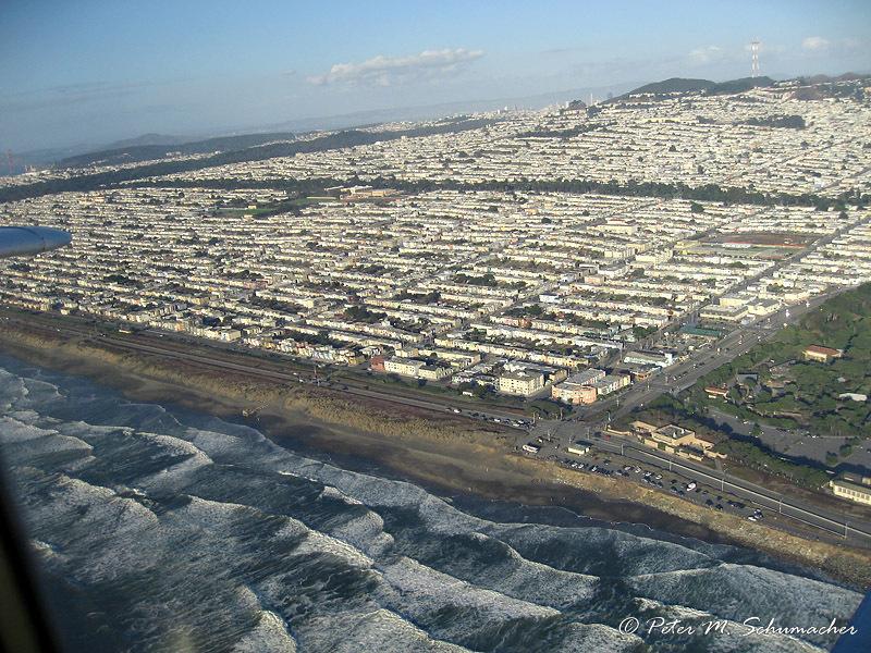 San Francisco am Pazifik und Ecke des San Francisco Zoological Gardens