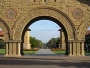 Stanford University - Blick zum Oval und zum Palm Drive