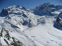 Monte Rosa mit Gorner- und Grenzgletscher
