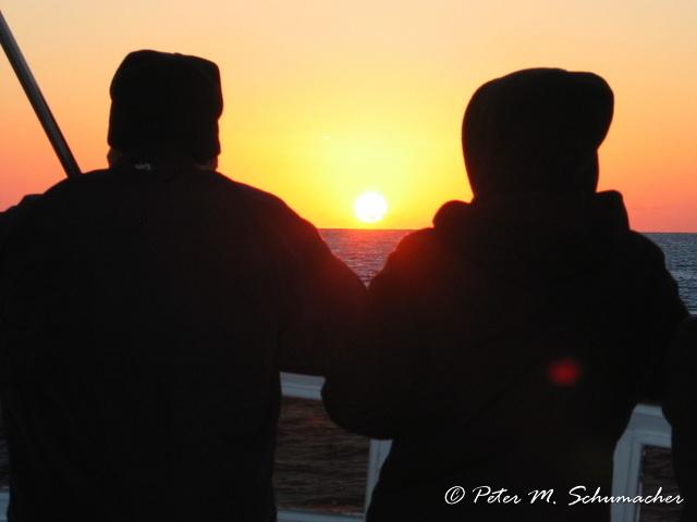 Romantik bei Sonnenaufgang