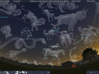Der Himmel am Abend des 9.5.2008