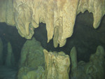 Pont d'en Gil - Stalagmiten und Stalaktiten unterwasser
